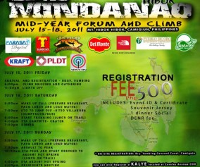 Poster for the 2nd Mindanao Mid Year Forum and Climb