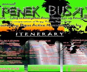 5th Annual Penek Busay poster and itinerary hosted by the Digos Active Mountaineers