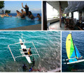 Splash, dive, snorkel or just chill out insiode Lemlunay's Dive Resort! (Top Left photo credits to Mark Cabrerra)