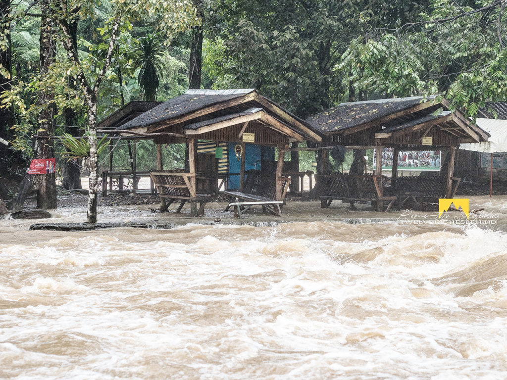 Tinuy-an Falls cottages in deep flood waters