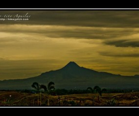 Mt. Matutum in Tupi South Cotabato as seen from Mt. Sabrina in Gen Santos City