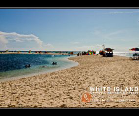 "The snakelike ""shores"" of white Islands is as fantastic as its white sand.."