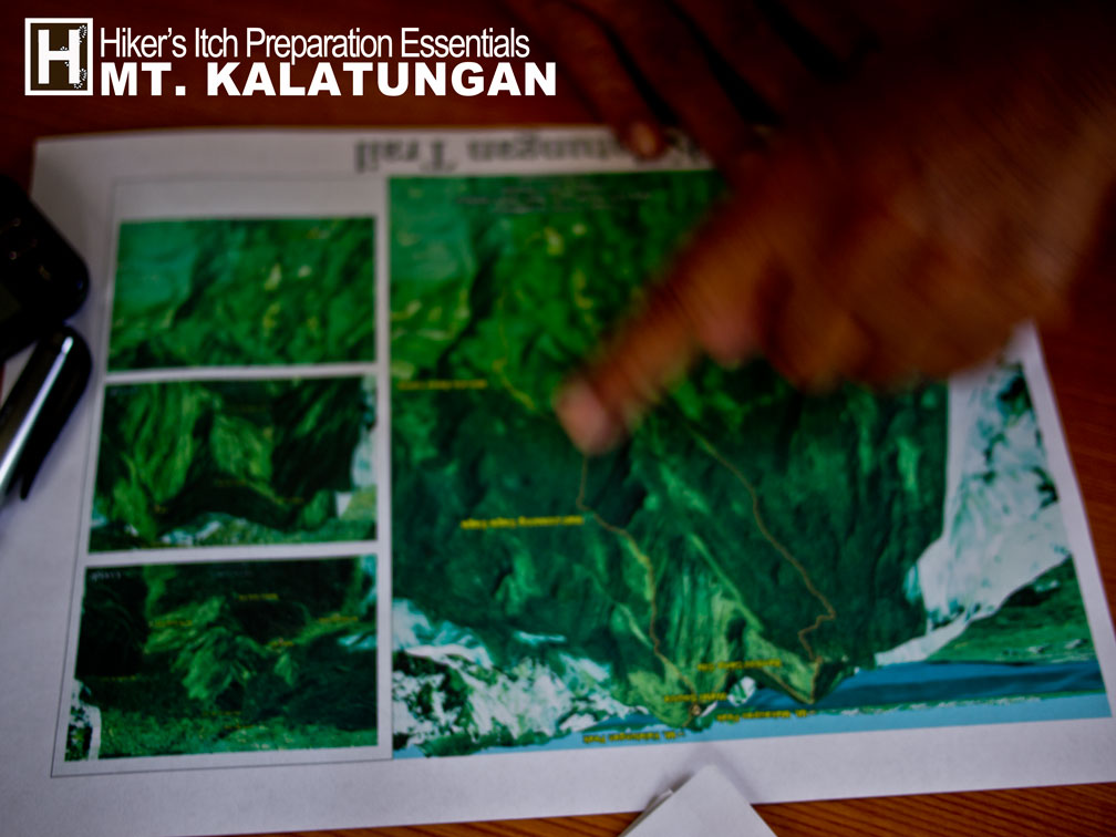 Map planning our Kalatungan itinerary with Tourism Officer of Pangantucan