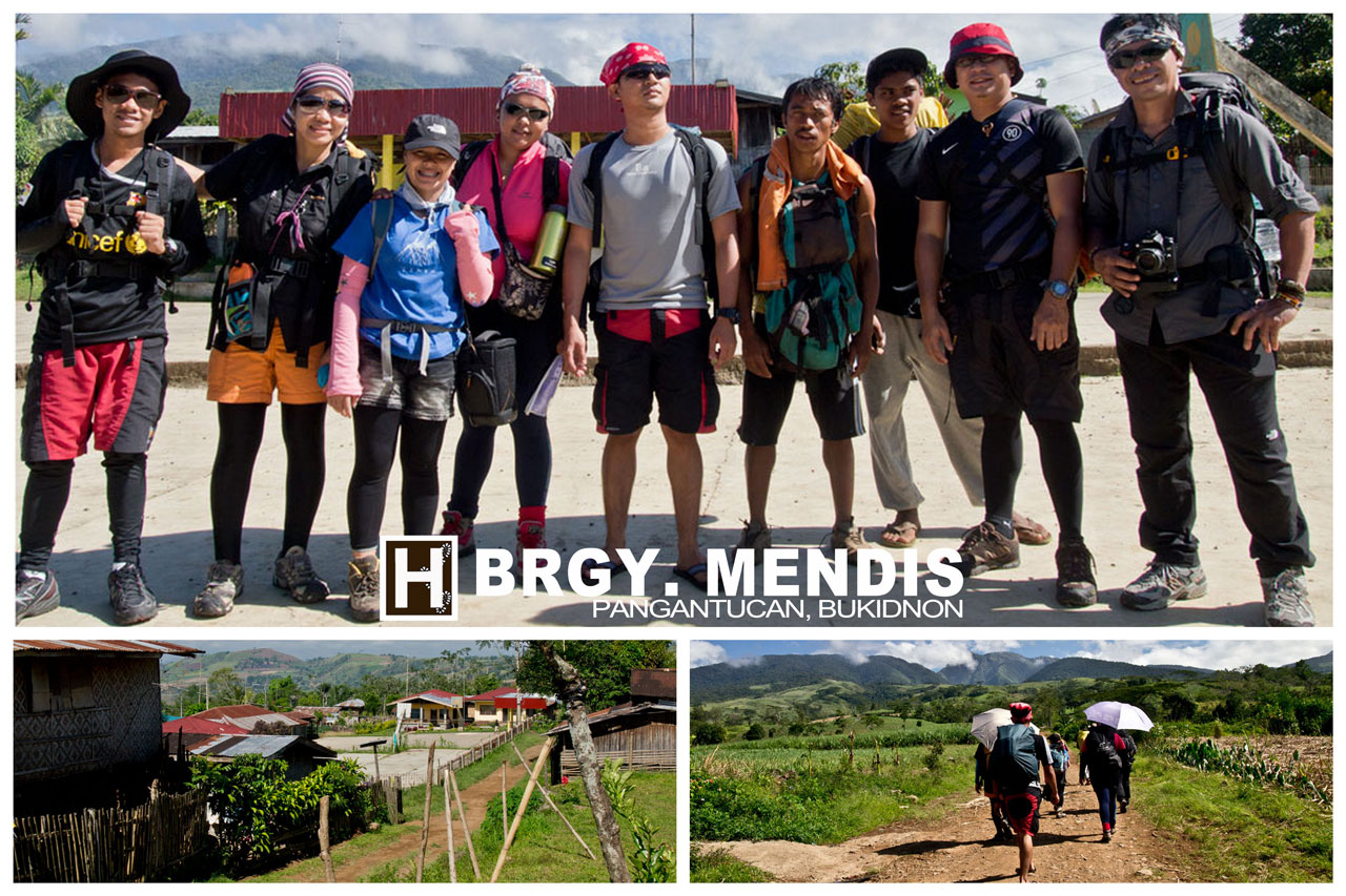 The group at Brgy. Mendis posing for a group shot prior to onset of hike..