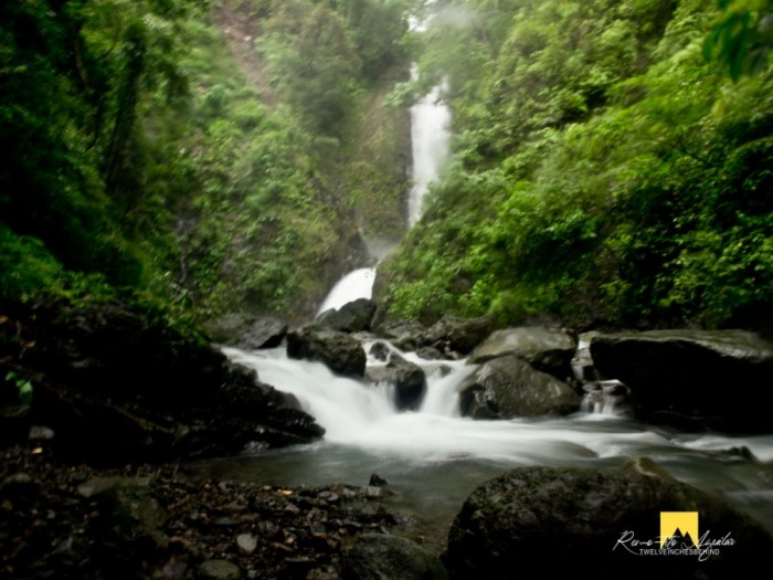 Bugtong Bato Falls- 2nd tier. Didn't even dare to go near the stairs going to the third tier