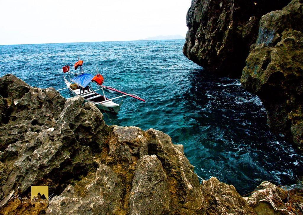 Small entrance bay to Tangke Lagoon