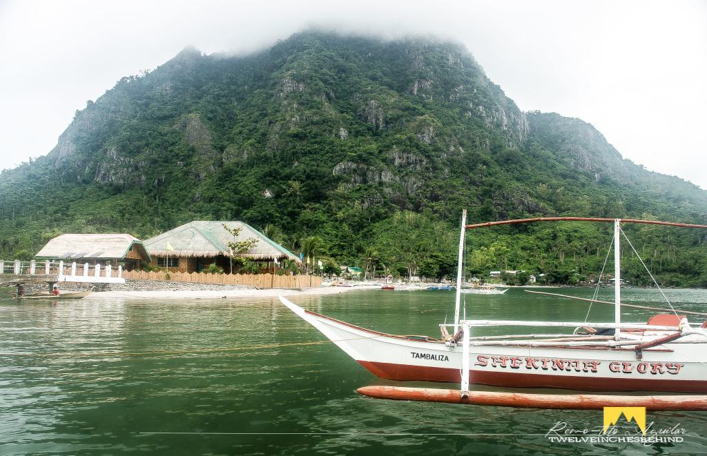 The towering Mt. Manaphag overseeing Tambalisa beach. Note the conspicous house.