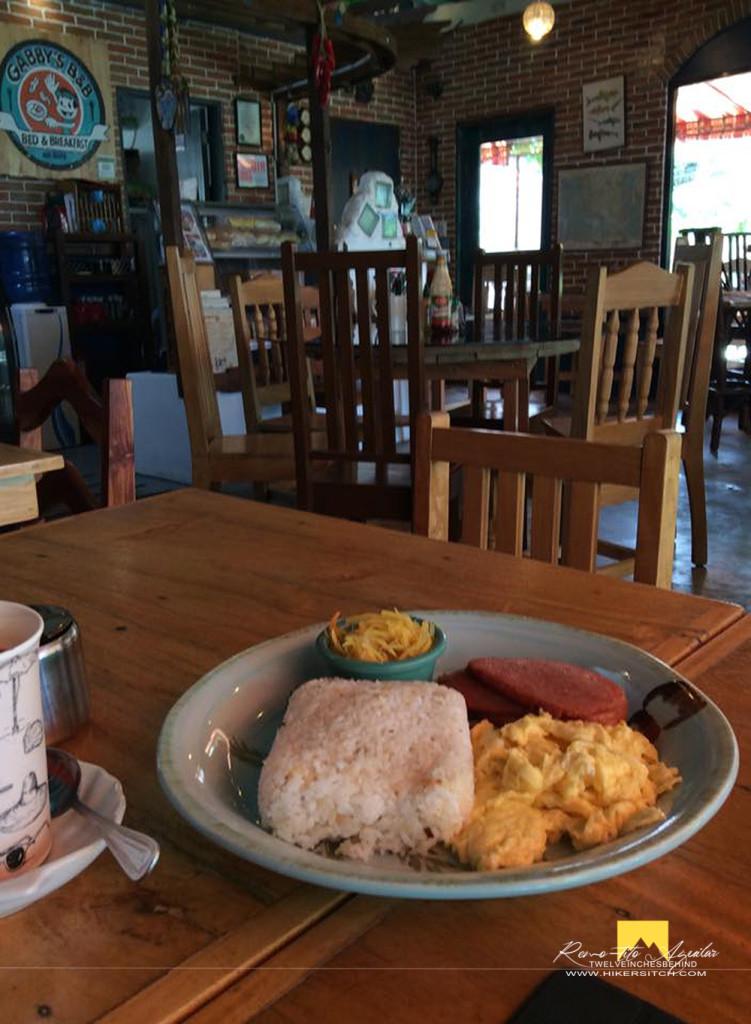 Huge breakfast serving at Gabbys BnB