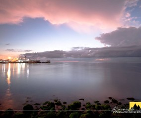 Breaking dawn in Rizal Boulevard, Dumaguete City